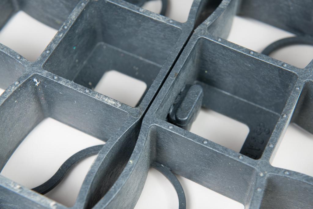 Nahaufnahme verbundene X5 Rasengitter